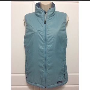 Large Patagonia light blue insulated vest